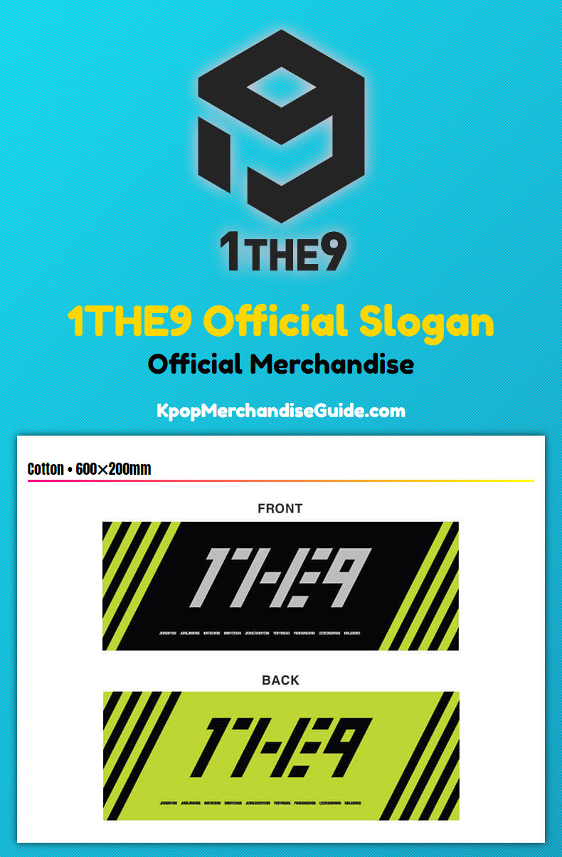 1THE9 Official Slogan Merchandise