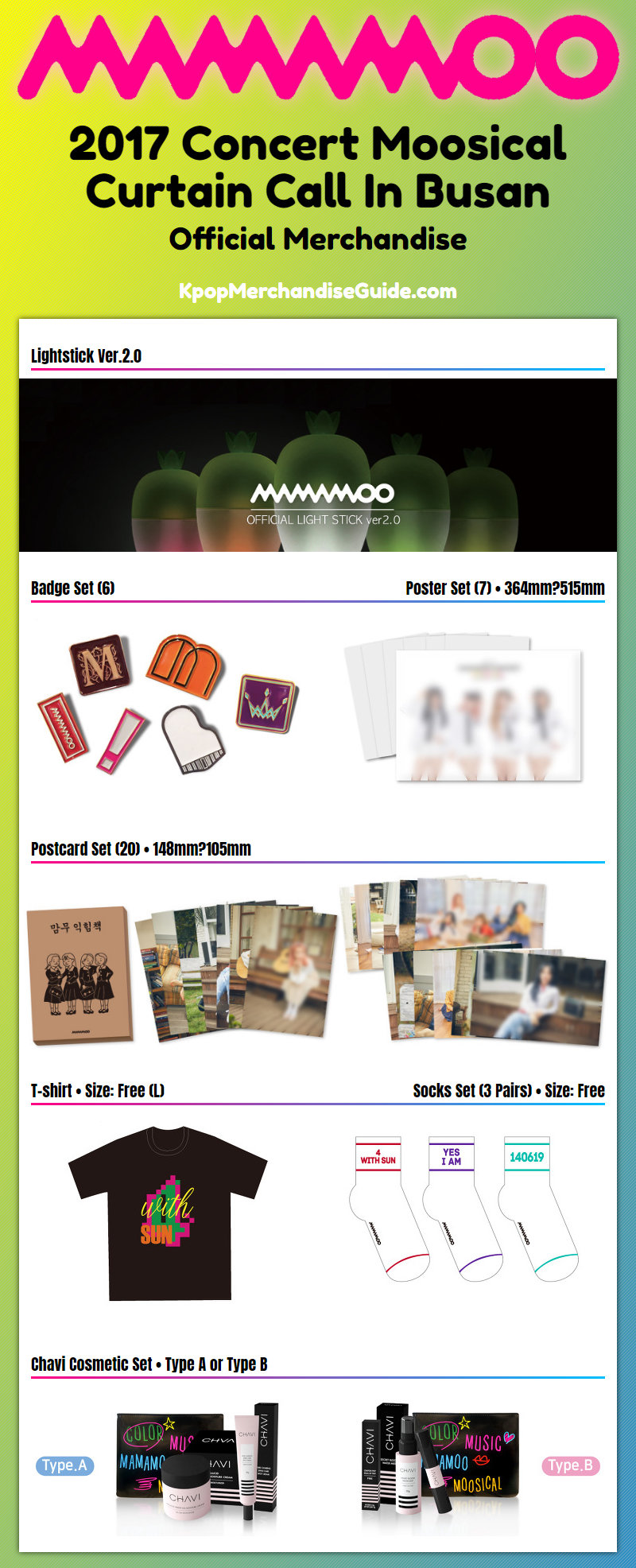 2017 Concert Moosical Curtain Call In Busan Merchandise