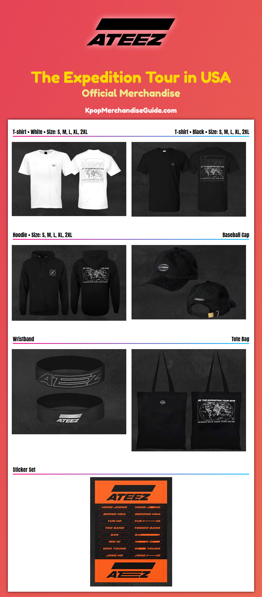 Ateez The Expedition Tour In USA Merchandise