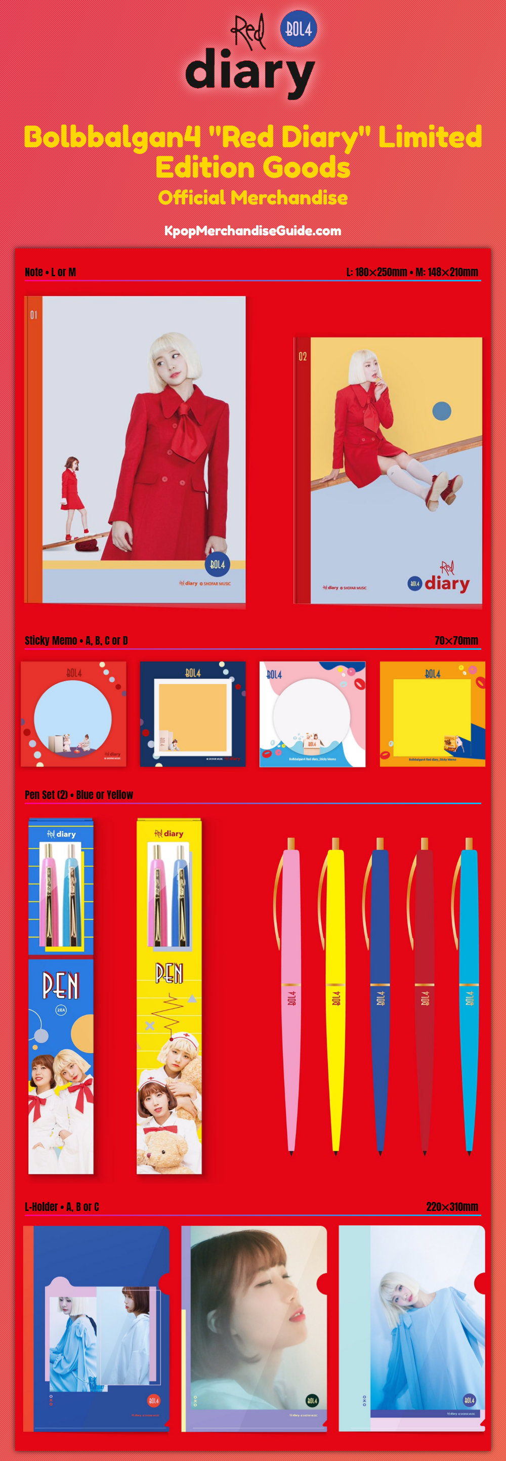 Bolbbalgan4 Red Diary Official Merchandise