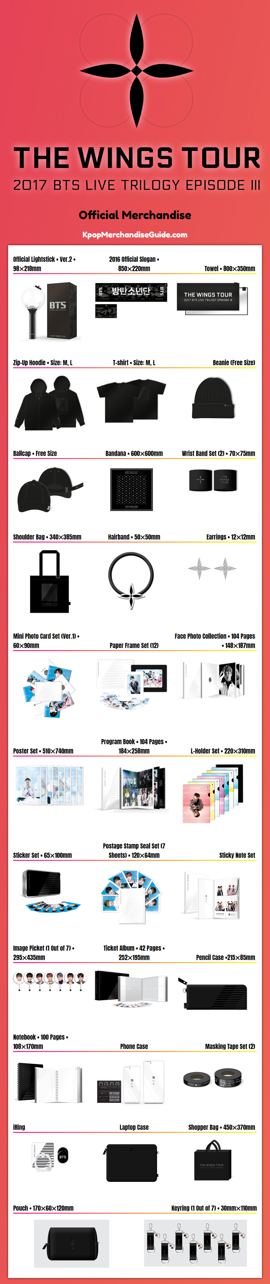 bts 2017 live trilogy episode iii the wings tour in seoul merchandise