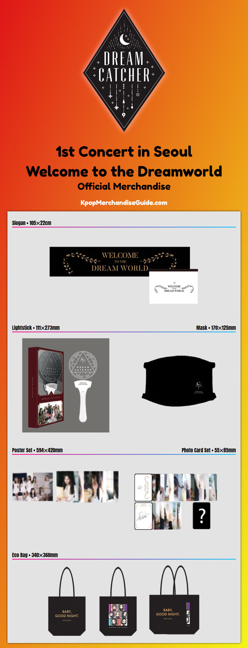 Dreamcatcher 1st Concert in Seoul Welcome to the Dreamworld Merchandise