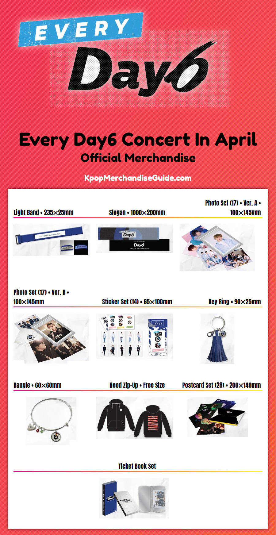 every day6 concert in april merchandise