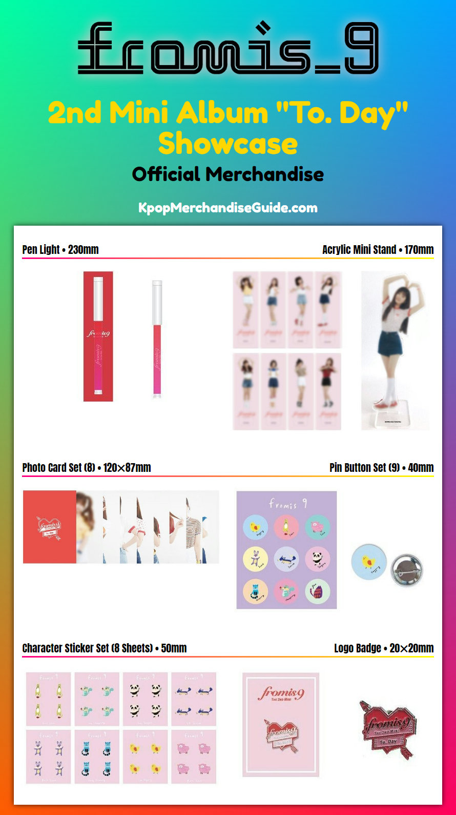 Fromis 9 2nd Mini Album To Day Showcase Official Merchandise