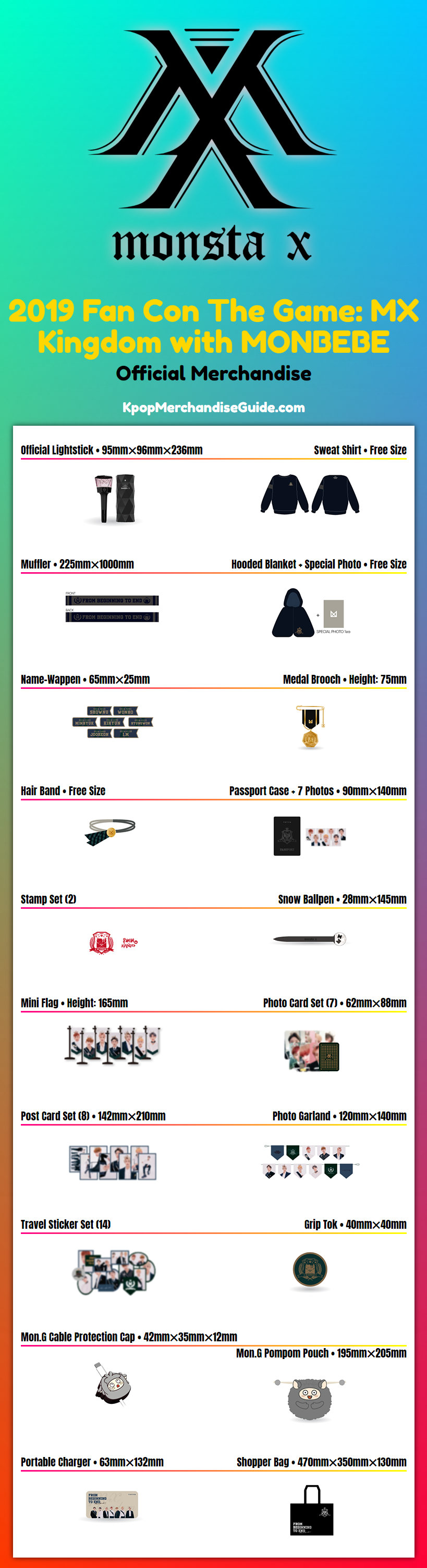 2019 Fan Con The Game: MX Kingdom with MONBEBE Merchandise