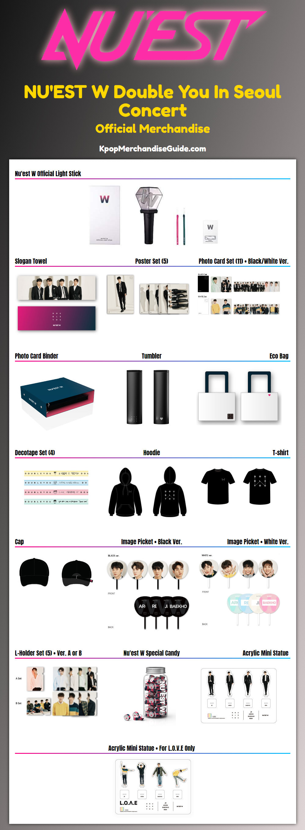 Double You In Seoul Concert Merchandise