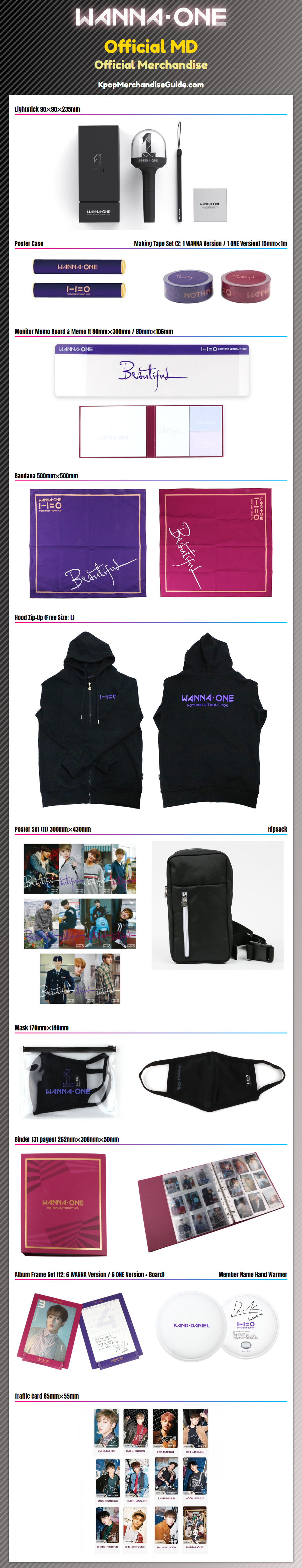 Wanna One Official MD Goods