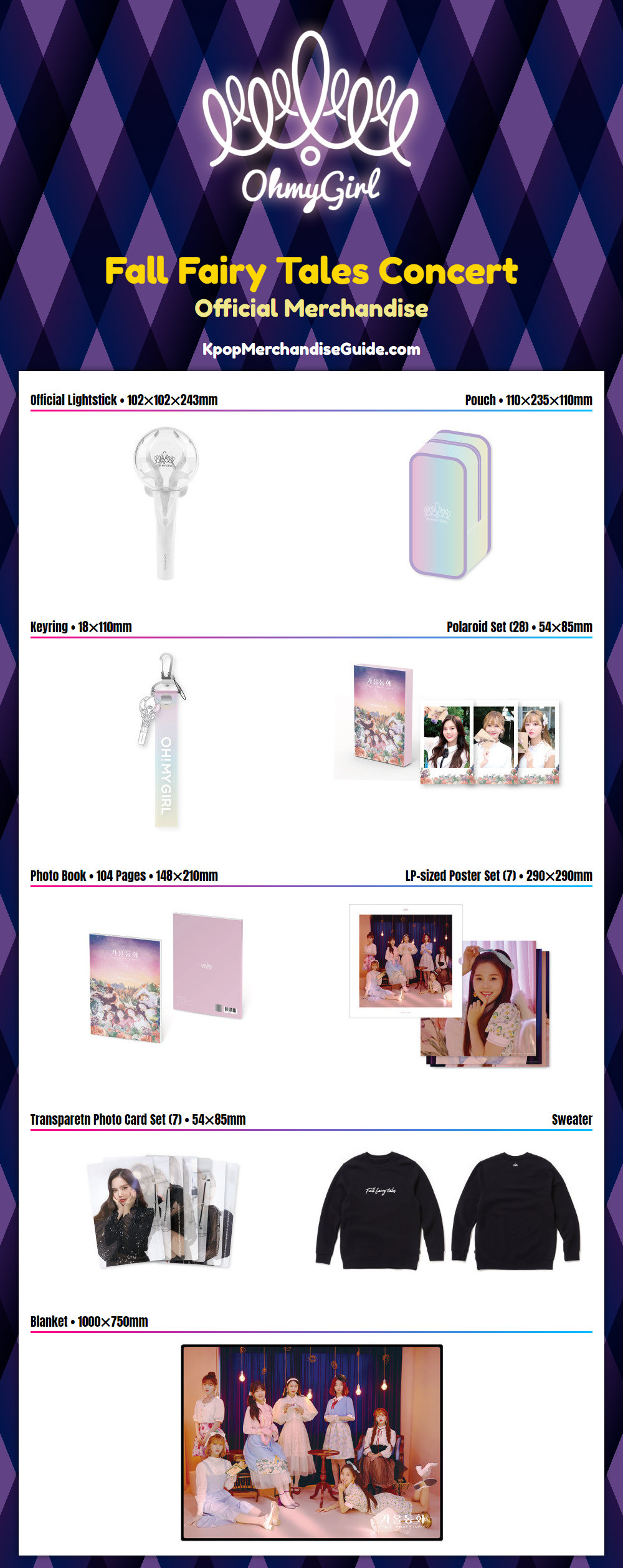 Oh My Girl Fall Fairy Tales Concert Merchandise