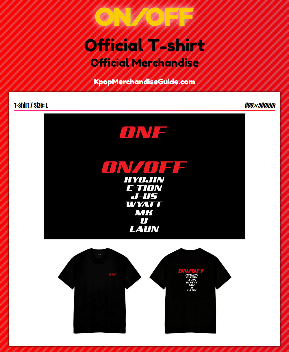 ONF Official T-shirt