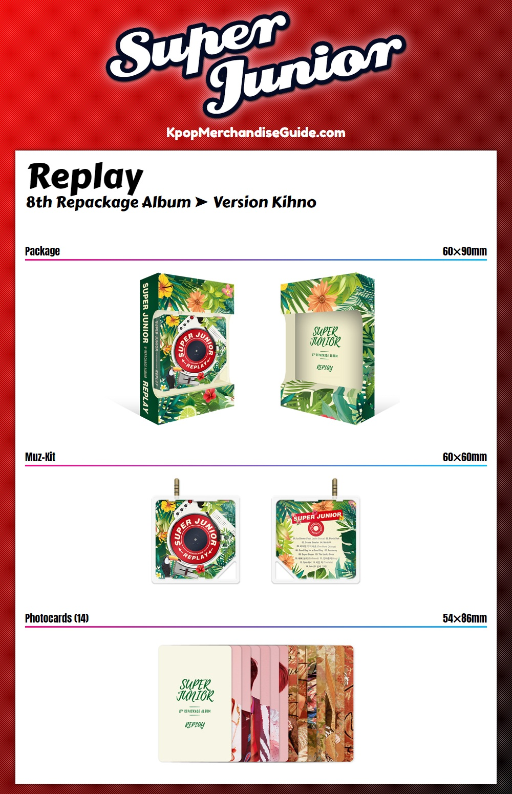 Super Junior - Replay Kihno Album
