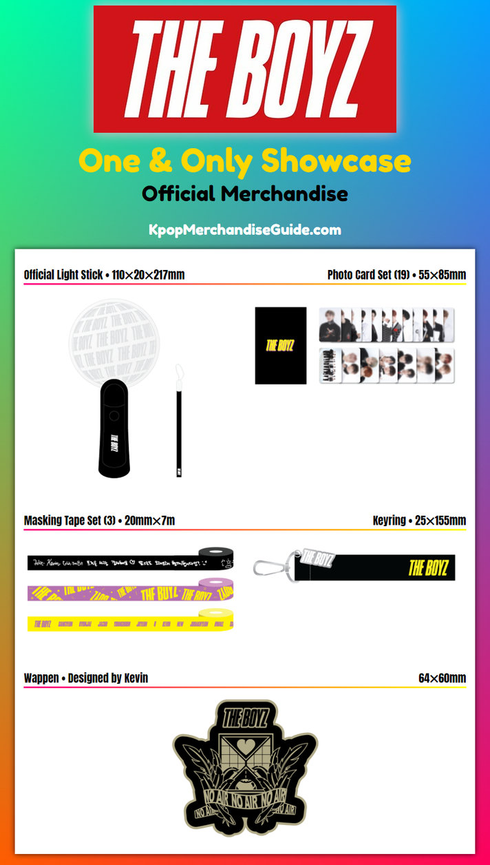 The Boyz 1st Anniversary & The Only Comeback Showcase One & Only Merchandise