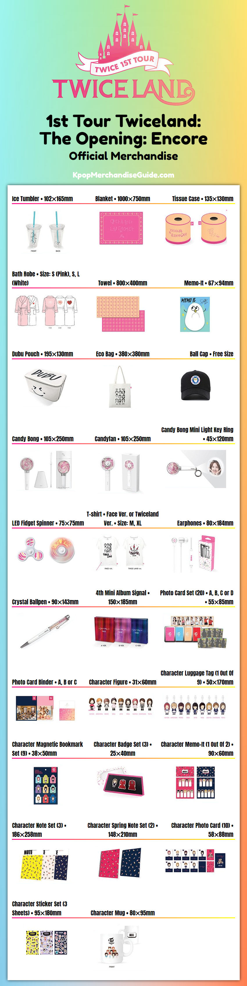 Twice 1st Tour Twiceland: The Opening Encore Merchandise