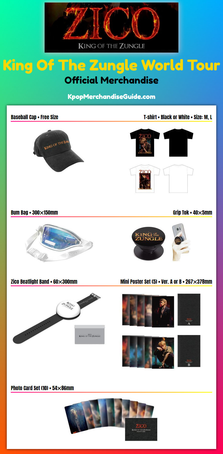King Of The Zungle Concert Tour Merchandise